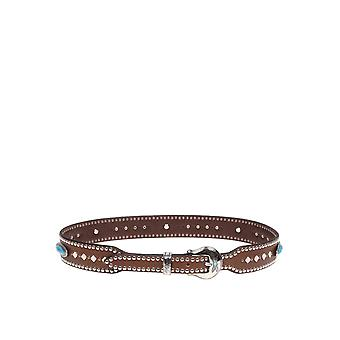 Nanni Brown Leather Belt