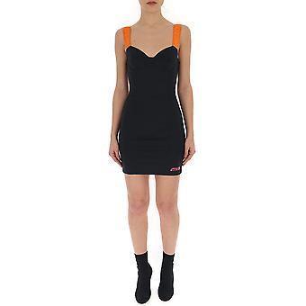 Heron Preston Orange/black Polyester Dress