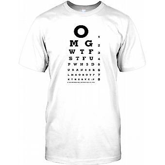 OMG WTF sjovt ordspil suk Test Herre T-shirt