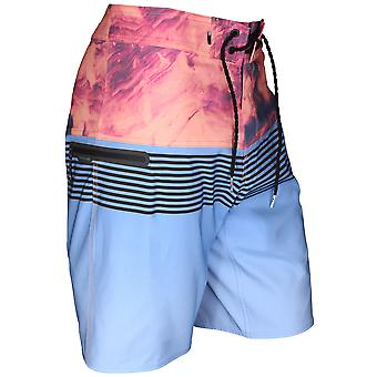 Quiksilver Mens Highline Lava Division Boardshorts - Silver Lake Blue