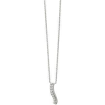 Beginnings Wavy Bar Necklace - Silver