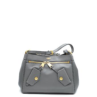 Moschino Grey Leather Shoulder Bag