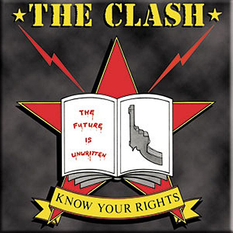 Clash Know Your Rights fridge magnet   (cv)