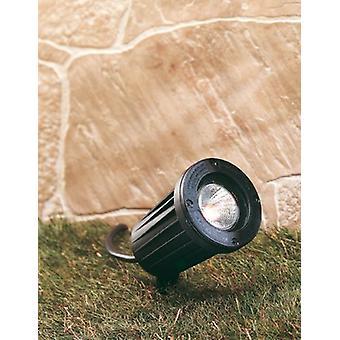 Firstlight - 1 Light Gu10 Spike Spot - 50W Black IP66 - GLR50BK