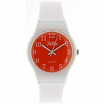 Reflex Analogue White Plastic Strap  Orange Dial Kids Watch 1560209U