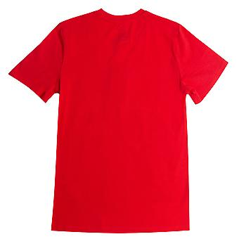 Junior Boys Franklin And Marshall F&M Logo Crew T-Shirt In Red- Short Sleeve-