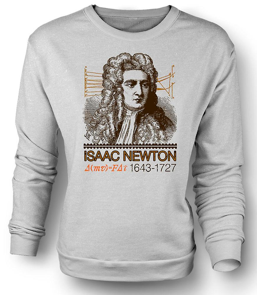 Mens Sweatshirt Isaac Newton wetenschapper 1643-1727-pictogram