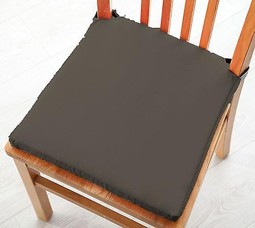 Pack de 8 Cotton Twill Dining Chair Seat Pad Cushion - gris