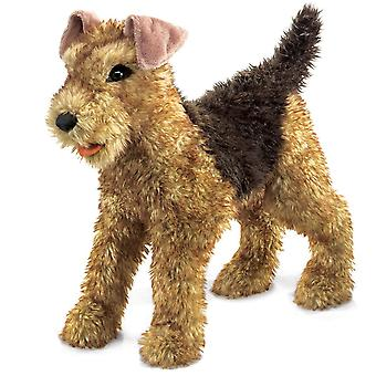 Títeres de mano - Folkmanis - Terrier Airedale New Animals Soft Doll Plush Toys 2993