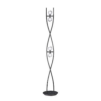 Mantra Fragma Floor Lamp 4 Light G9, Black Chrome