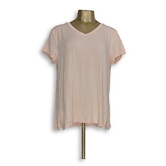 H di Halston Women's Top Essentials V-Neck Forward Pink A306231
