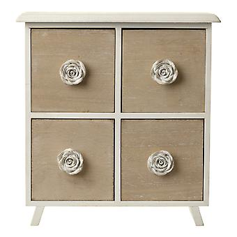 Four Drawer Cabinet With Rose Handles