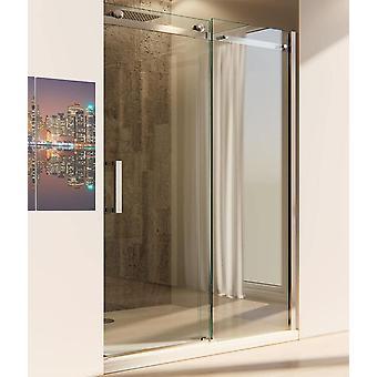 Porte de douche coulissante pour douche de niche en cristal transparent anti-limestone de 8mm - ep2.0