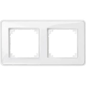 Merten 2 x Rahmen Transparent M-Creativ, Polar weiß MEG4020-3500
