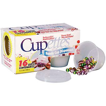 Cupettes Heavy Duty Cups & Lids 1.75 Ounce Clear 16 Pkg 14780