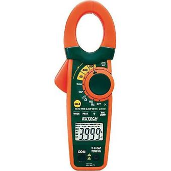 Clamp meter, Handheld multimeter digital Extech EX730 Calibrated to: Manufacturer's standards (no certificate) CAT III