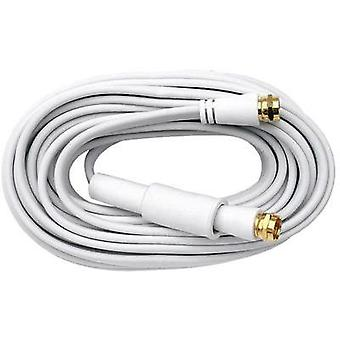 Antennas, SAT Cable [1x F plug - 1x F plug] 10 m 75 dB gold plated connectors White Axing