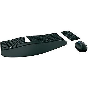 Wireless keyboard/mouse combo Microsoft Sculpt Ergonomic Desktop Ergonomic Black