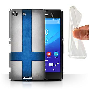 STUFF4 Gel/TPU Case/Cover for Sony Xperia M5/Finland/Finnish/Flags