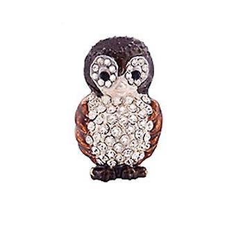Butler and Wilson Small Owl Lapel Pin Brooch