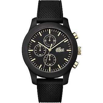 Lacoste 12.12 Chrono 2010826 watch - black Silicone man