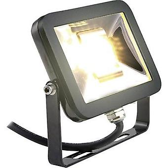 LED outdoor floodlight 10 W Warm white Heitronic Manchester 37369 Black