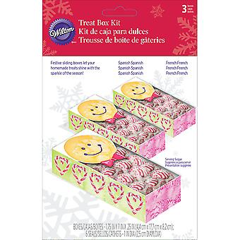 Sliding Treat Boxes 3/Pkg-Gingerbread Boy W7219