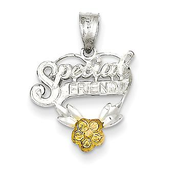 Charm cuore in argento Sterling amico speciale