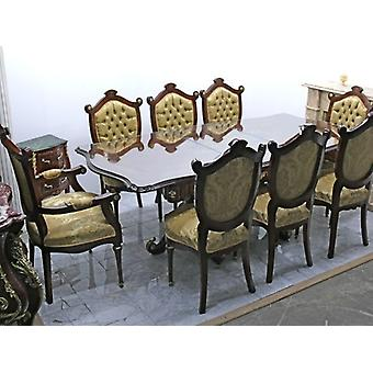 baroque dining room table Stühle armchair carved MoEs1105
