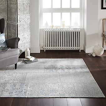 Manhattan Patchwork Chenille Rugs In Duck Egg