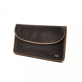 Berba Leather Womens wallet Soft 001-164-14 Black-Taupe