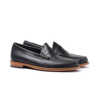 Bass Larson Pull Up Navy Leather Loafers
