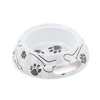 Melamine Dog Dish Grey Stripe Medium 700ml (Pack of 6)