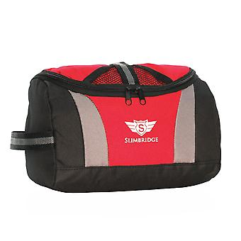 Slimbridge Pillar Hanging Toiletry Bag, Red