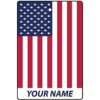 USA Flag Personalised Car Air Freshener
