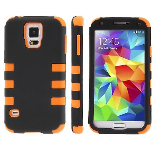 Hybrid case 3teilig grip Orange for Samsung Galaxy S5