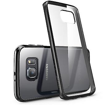i-Blason Samsung Galaxy S6 Edge Case - Halo Case - Clear/Black