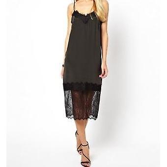 Asos Velvet Cami Dress With Lace Trim DR842-6