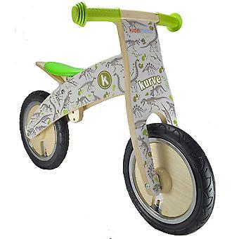 Kiddimoto Kurve Wooden Balance Bike - Fossil