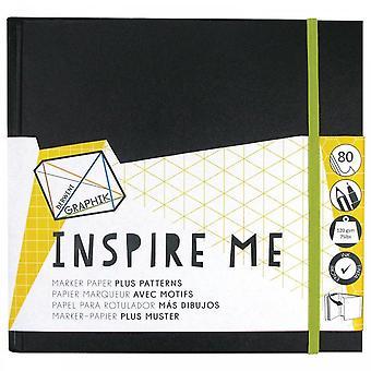Derwent Graphik Inspirez-moi livre - carré de 20cm