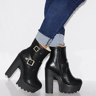Koi Couture Ladies Bf11 Black Fur Lined Boots
