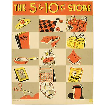 The nickel and dime store Poster Print Giclee