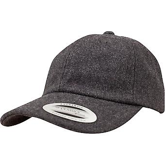 Flexfit LOW PROFILE Melton wool Strapback DAD Cap - grey