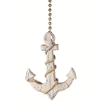 Ships Anchor Decorative Ceiling Fan Light Dimensional Pull