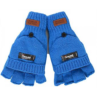 Franklin & Marshall Half Finger Mitten Blue Gloves