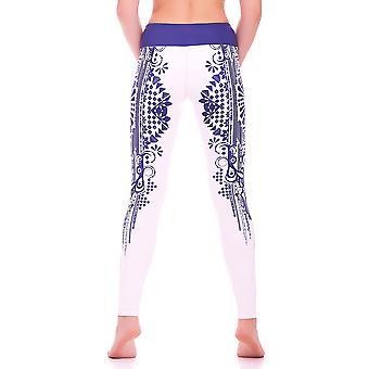 Mio actif Long Creme Indigo Tribal Yoga legging MS16S5L
