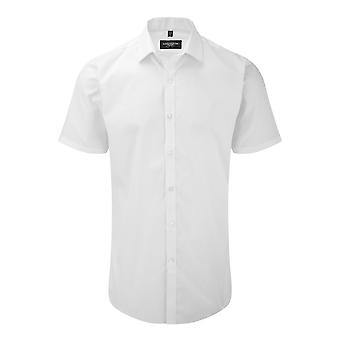 Russell Mens Short Sleeve Stretch Moisture Management Work Shirt