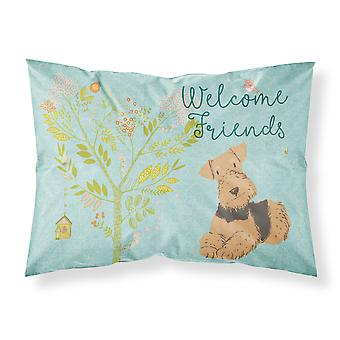 Welcome Friends Airedale Terrier Fabric Standard Pillowcase