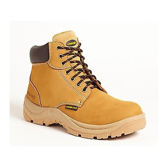 Sterling Honey Leather Safety Work Boots. Steel Toe & Midsole –SS819SM