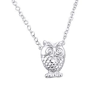 Owl - 925 Sterling Silver Plain Necklaces - W19672X